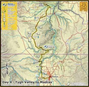 map of kahneeta oregon cycle oregon day 4 tygh valley to madras bikeportland org