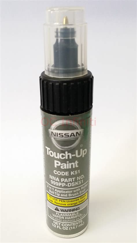 nissan infiniti genuine touch up paint carbon silver paint code k51 ebay