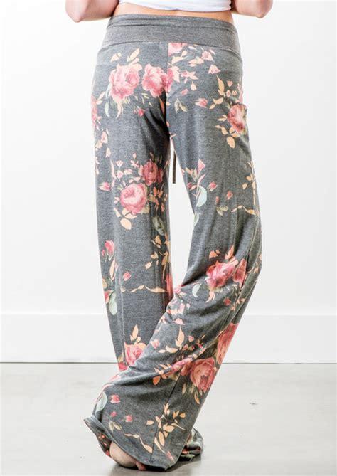 floral loose wide leg pants fairyseason