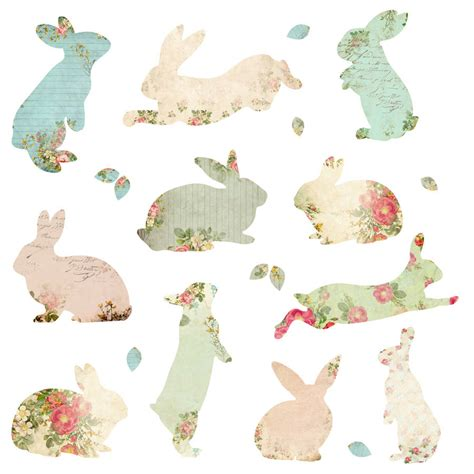 printable sticker paper for fabric fabric rabbit wall stickers by spin collective
