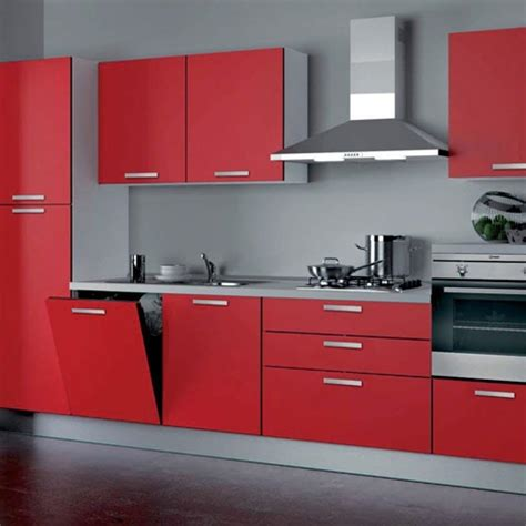 cucina e rossa cucina componibile modello nita moderna laccato lucido