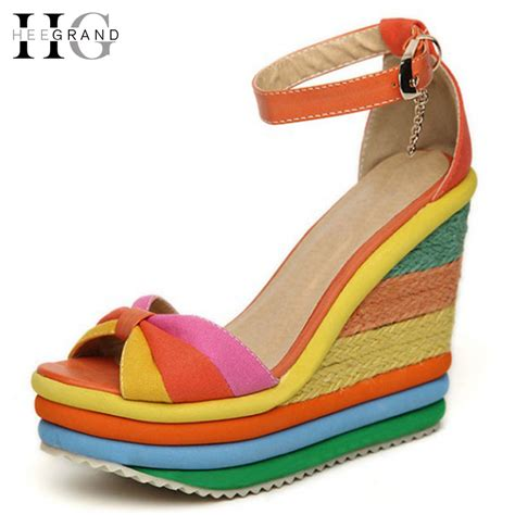 Sandal Surfer Summer Plants 01 Black hee grand platform ᐊ sandal sandal summer shoes bohemia rainbow ᗜ Lj thick thick sole