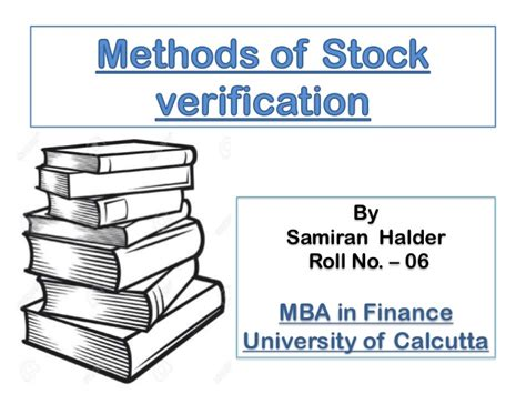 Mba In Finance Calcutta by Methods Of Stock Verification