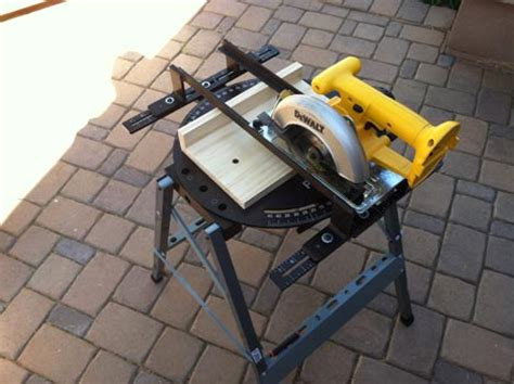 convert portable circular saw to table saw turn your circular saw into a miter saw tool rank com