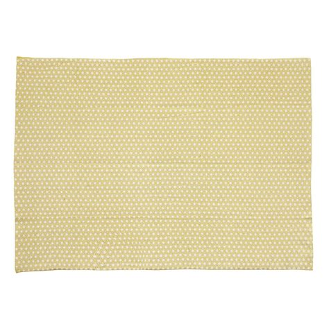 mustard yellow rug origami cotton rug in mustard yellow 60 x 120cm maisons du monde