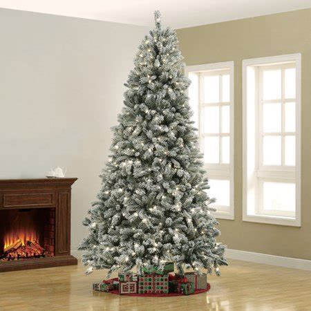 walmart in store pre lit slim tree on sale time pre lit 9 winter tree clear lights walmart