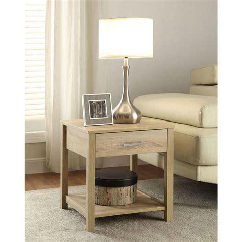 linon home decor linon home decor aspen blonde storage end table 84028asp