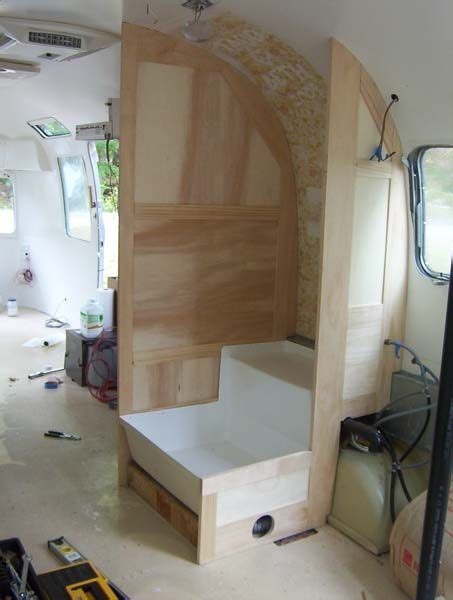 interior painted     woodworking airstream