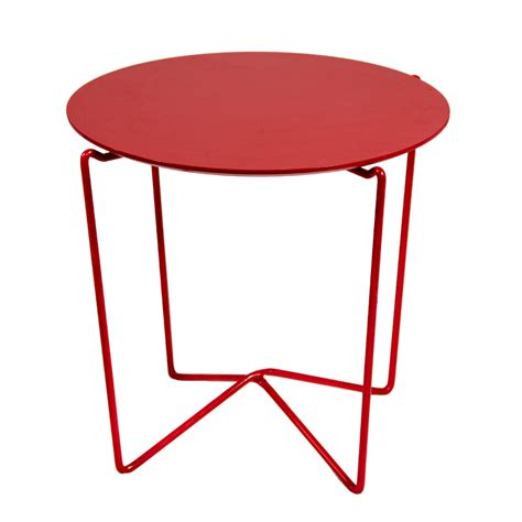 red accent tables red metal accent table peter corvallis productions