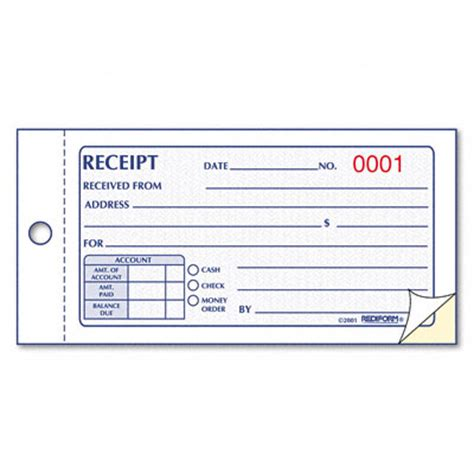 9 best images of printable receipt forms free printable