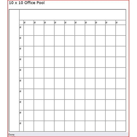 super bowl squares blank new calendar template site