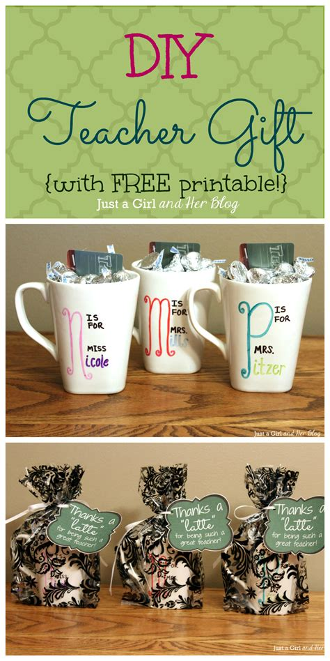 day gifts for teachers diy gift with free printable
