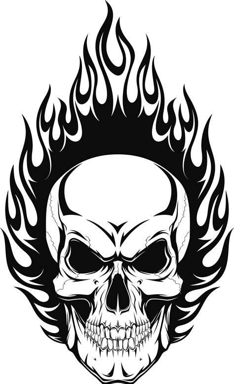 skull and flames tattoo designs skull tattoos for