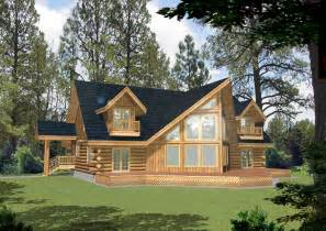 Log House Plans 3220 Sq Ft West Coast Log Home Style Log Cabin Home Log
