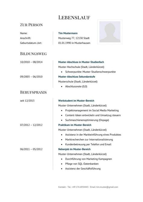 Lebenslauf Muster Pages Klassische Lebenslauf Vorlage In Modernem Stil Zum Kostenlosen Downlaod Lebenslauf Vorlagen