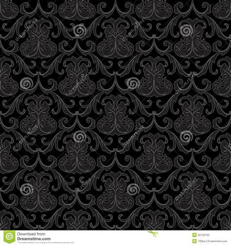 black wallpaper pattern vector seamless black wallpaper pattern stock vector image