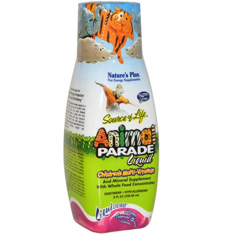 Natures Plus Animal Parade Children Multivitamin 8 Oz orange naturals cough for homeopathic remedy 100ml in canada only 19 99 free