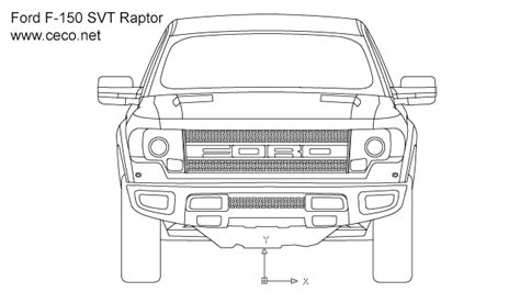 pick up ford f150 svt raptor front view block in vehicles