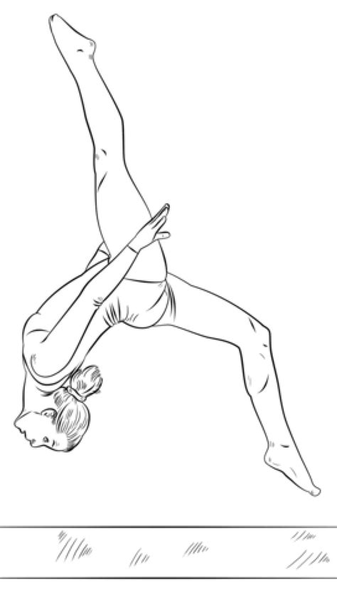 gymnastics coloring pages free printable get this free gymnastics coloring pages 72ii8
