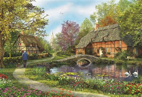 educa meadow cottages 5000 jigsaw puzzle ebay