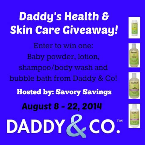 Health Giveaway - daddy s skin care prize pack giveaway ends 8 22 arv 50 swanky point of view