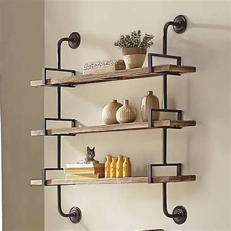 17 best ideas about industrial wall shelves on