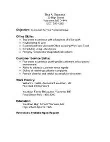 describe customer service resume