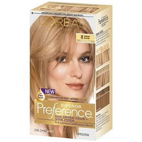 loreal preference medium ash blonde review youtube l oreal preference 8 medium blonde haircolor wiki