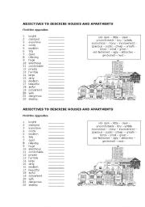 Describe Apartment In Adjectives To Describe Houses And Apartments