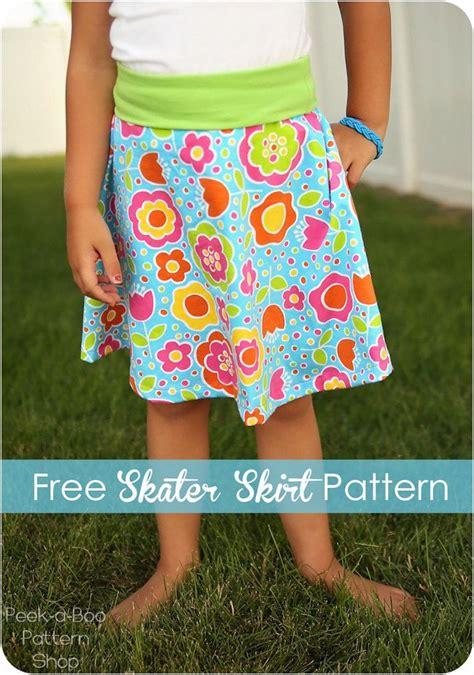 toddler paper bag skirt pattern free skater skirt pattern for girls sewing tutorials