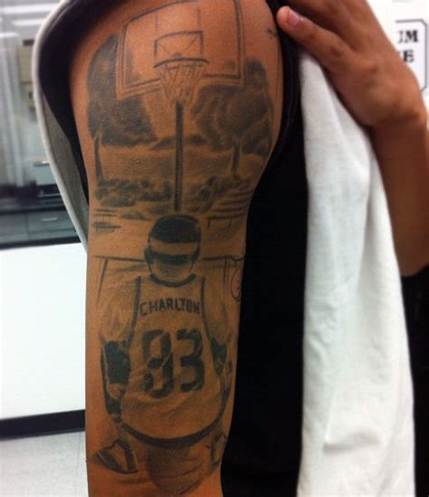 basketball tattoo designs for men 40 basketball tattoos for masculine design ideas