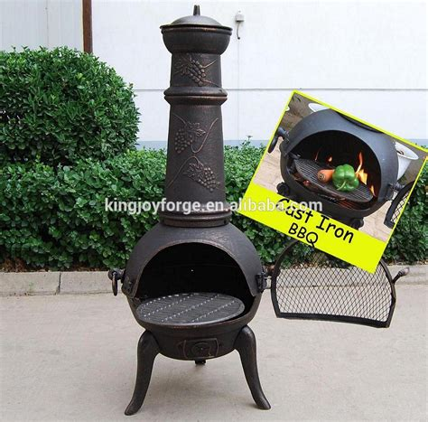 chiminea oven cast iron pizza oven chiminea with bbq grill view cast
