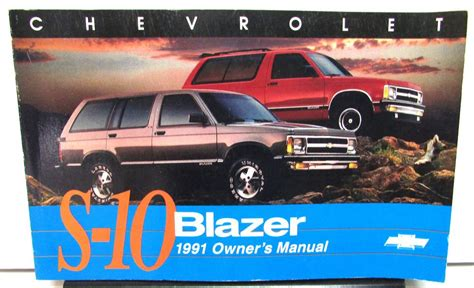 automotive repair manual 1996 chevrolet blazer user handbook 1991 chevrolet s10 blazer owners manual