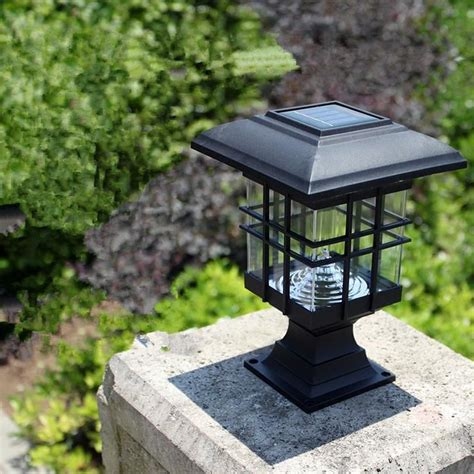 cheap solar pillar lights buy quality pillar light