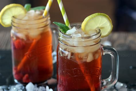 Detox Iced Tea by Detox Cold Tea With Raspberries And Maple Syrup Vegan