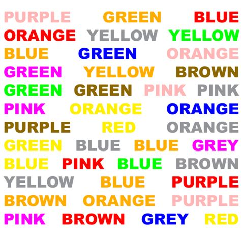 stroop color word test a school of fish stroop effect conservation of liquids