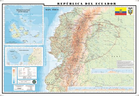 physical map of ecuador physical map of ecuador 2009 size