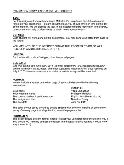 how to write a evaluation paper evaluation essay assignment sheet pdf pdf archive