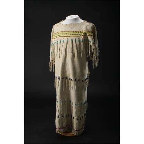 beaded indian dress beaded and fringed indian s buckskin dress approx