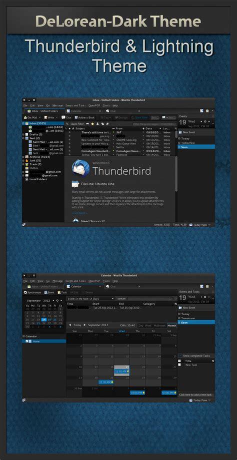 thunderbird themes for windows 10 delorean dark thunderbird theme 1 10 by killhellokitty on
