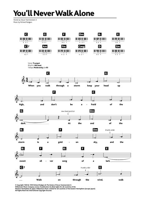 Letter You Ll Never Get You Ll Never Walk Alone From Carousel Sheet By Rodgers Hammerstein Keyboard 32569