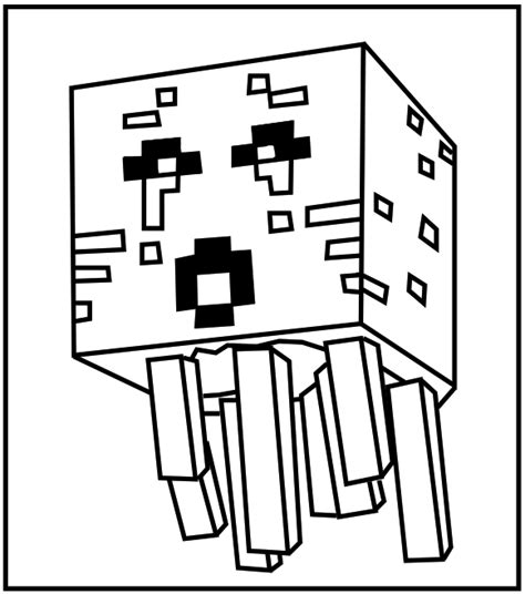 Minecraft Ghast Coloring Kids Minecraft Coloring Pages To Print