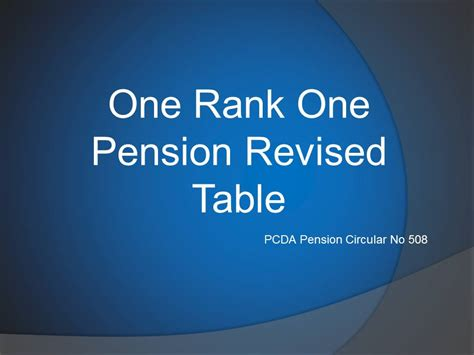 one rank one pension latest news one rank one pension table jcos ors 2015