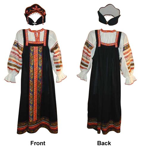 russian traditional black sarafan style