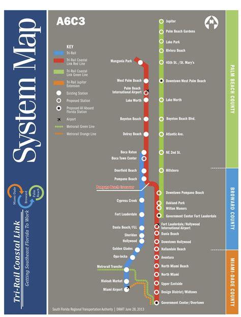 tri rail map is the new i 95 traffic helps resurrect miami rail wlrn