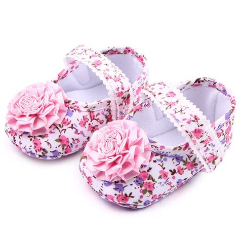 Baby Dress Baby Shoes baby kid bowknot shoes pu leather floral crib shoes