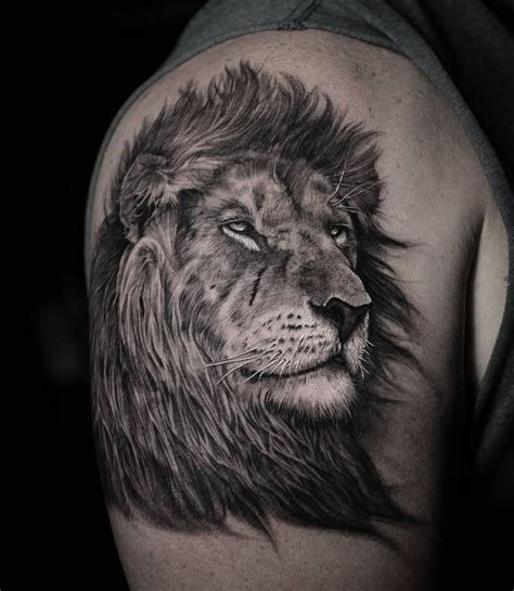 realistic lion tattoo portrait best design ideas