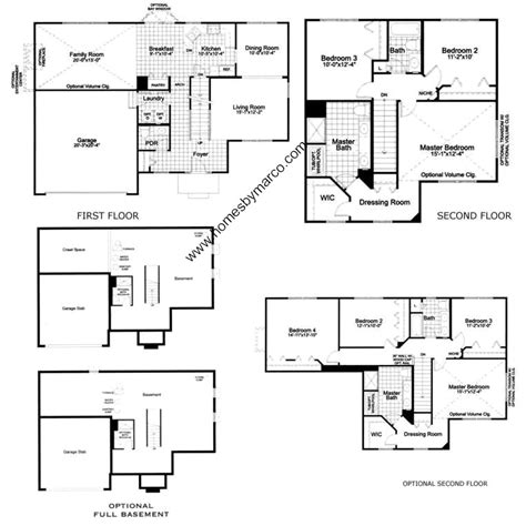 cardiff residence floor plan cardiff model in the windsor pointe subdivision in sugar