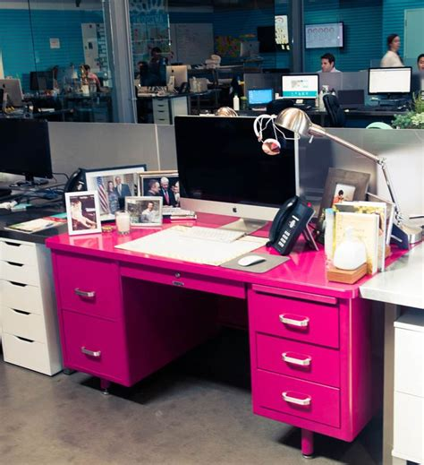 The Pink Desk Is Where It All Happens Www Thecoveteur Com Pink Desk
