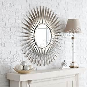 home design studio large sunburst mirror amazon com extra large silver leaf sunburst starburst